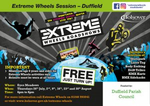 FREE 'extreme sports' sessions to be held at Eyes Meadow during school summer holiday