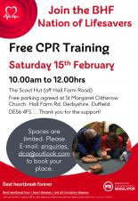 Duffield Community Association FREE CPR Training Sat 15th Feb
