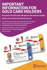 Reminder to Duffield residents who carry a Gold Card: it's renewal time